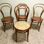 Thonet` tool nr. 14. Taustal J&J Kohn-i viini toolid.