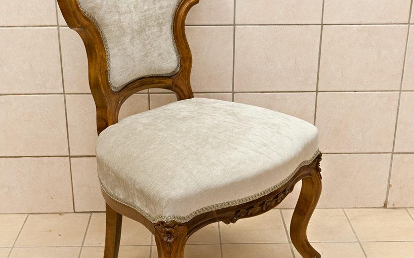 Uus-rokokoo stiilis tooli restaureerimine