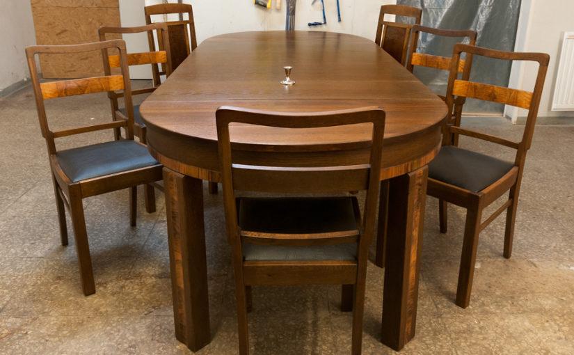 Söögilaua ja toolide restaureerimine